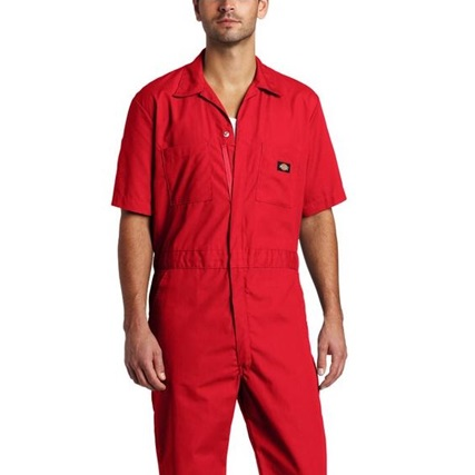 [디키즈] Basic Coverall - Short / Red
