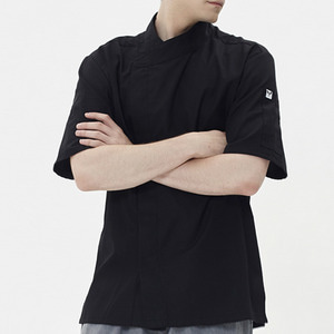 [쉐프앤코] Ultra Light Chef Jacket - Real Black / Short