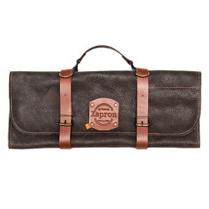 [Xapron] Leather Knife Roll Bag - Choco