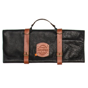 [Xapron] Leather Knife Roll Bag - Black